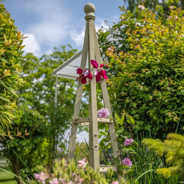 150cm Sage Wooden Obelisk Plant Support by Lacewing™