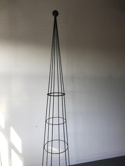 2.44m Hampton Plant Support Steel Obelisk