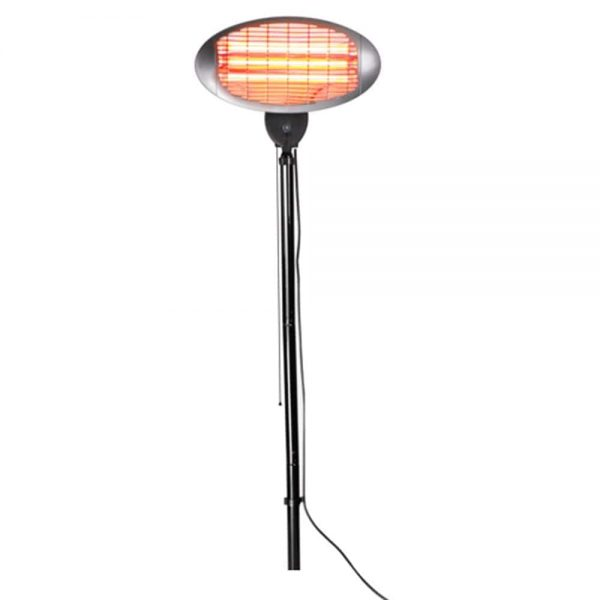 2kW IPX4 Base-Free Electric Quartz Bulb Patio Heater - 3 Power Settings by Heatlab®
