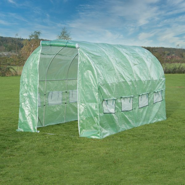 4m x 2m (13ft 1in x 6ft 7in) Premium Polytunnel Galvanised Frame by New Leaf™