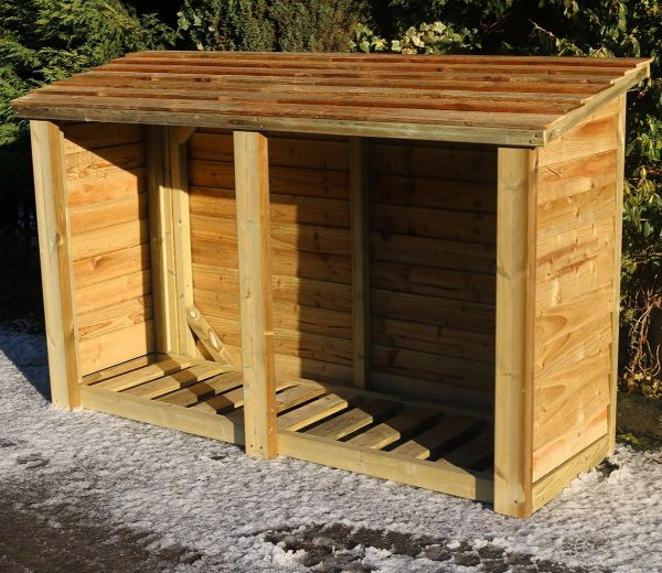 6ft Wooden Log Store by Churnet Valley®