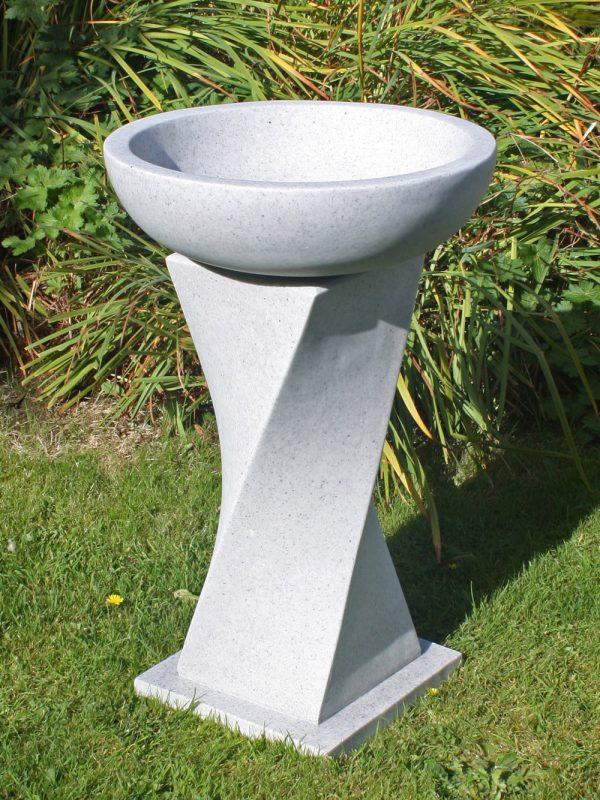70cm Bird Bath Granite Garden Statue