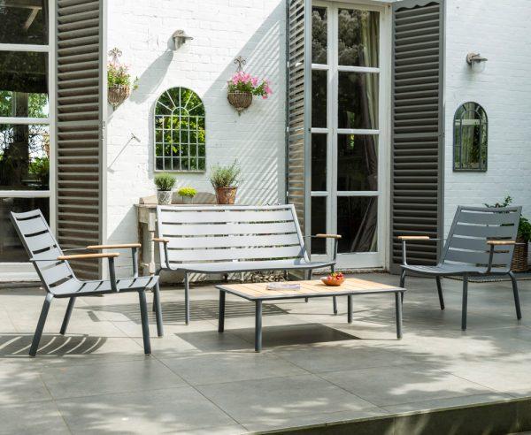 Alexander Rose Fresco Flint Aluminium 4 Seater Garden Lounge Set