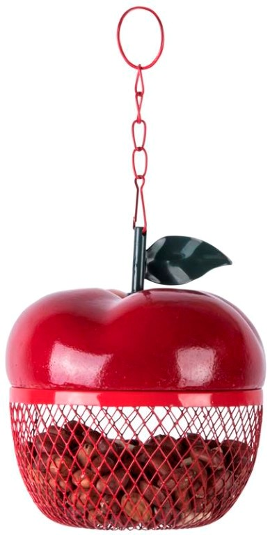 Apple Shaped Peanut Bird Feeder - 14.5cm (6in)
