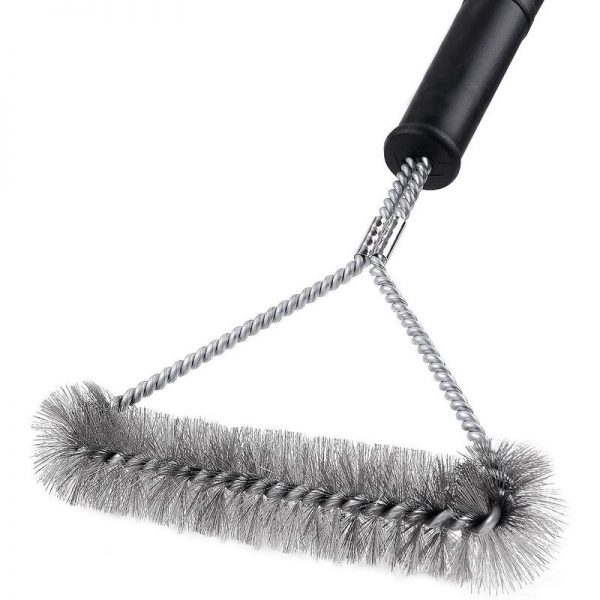 Barbecue cleaning brush, triangular barbecue brush for charcoal barbecue, 30 cm