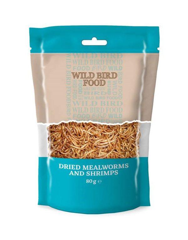 Basics Mealworms & Shrimp Bird Food - 80g