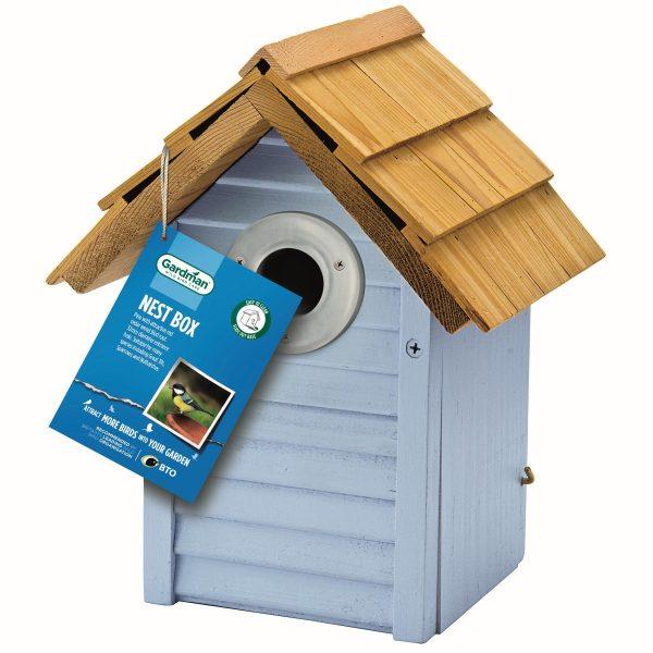 Beach Hut Nest Box by Gardman - Blue