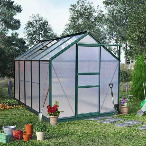 BillyOh Rosette Hobby Aluminium Greenhouse - Single Sliding Door - 10 x 6 Green