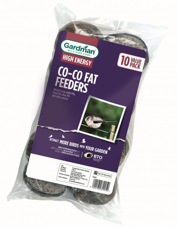 Co-Co Fat Feeder Bird Feeder by Gardman - Pack of 10