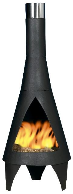 Colorado Steel Chimenea - Medium - H125cm x D45cm