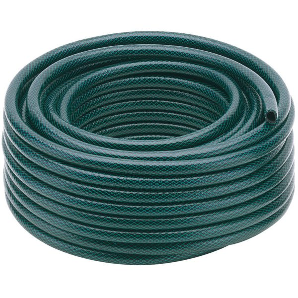Draper 12mm Bore Green Watering Hose - 15m