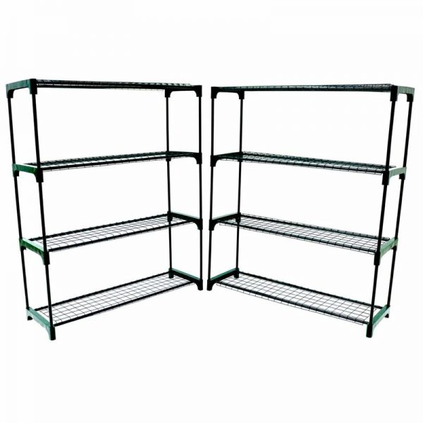 Flower Staging Display Greenhouse Racking Shelving Double Pack - Oypla