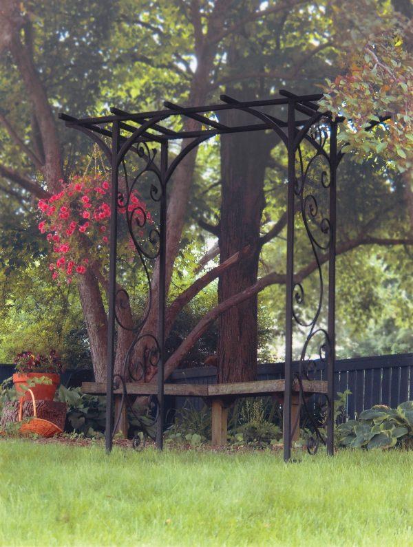 Garden Arch with Vines in Black