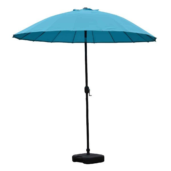 Garden Must Haves Blossom 2.5m Oriental Parasol (base not included) - Aqua