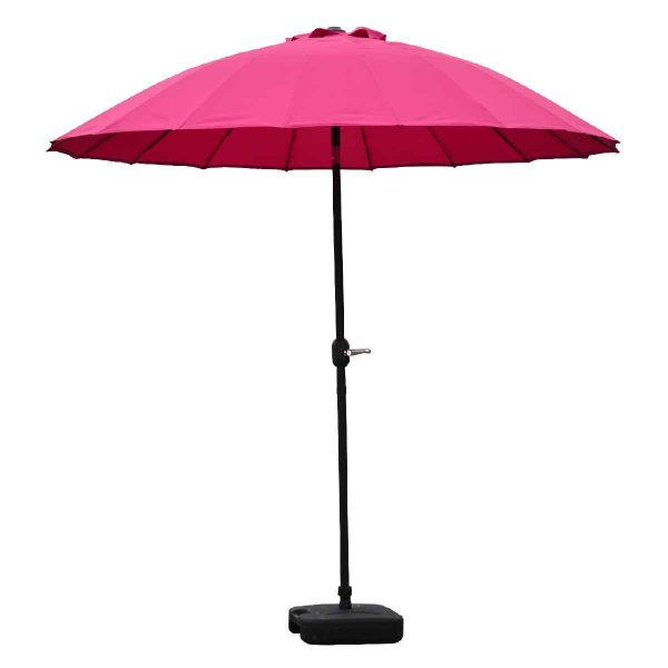 Garden Must Haves Blossom 2.5m Oriental Parasol (base not included) - Fuchsia