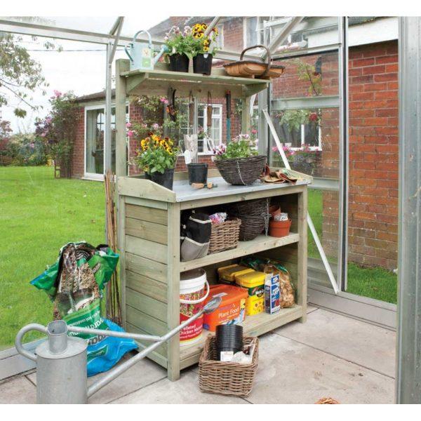 H1.62m (5ft 4in) Wooden Garden Potting Bench FSC® by Rowlinson®