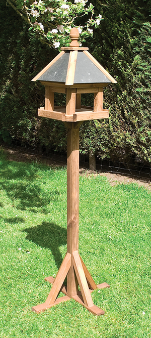 H1.72m (5ft 8in) Laverton Wooden Bird Table FSC® by Rowlinson®