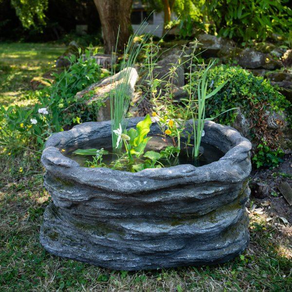H35cm Natural Rock Semi Shade Pond-In-A-Pot Kit