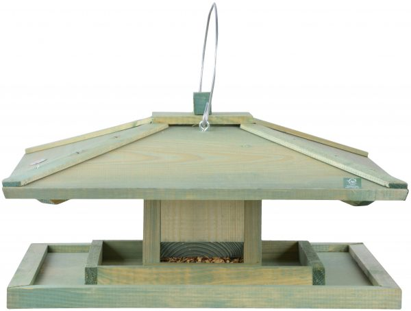 Japanese Style Hanging Bird Table Seed Feeder - 39cm (1ft 3in)