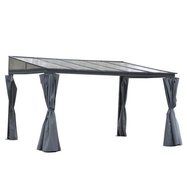 Outsunny 4 x 3m Outdoor Pergola Gazebo - Grey