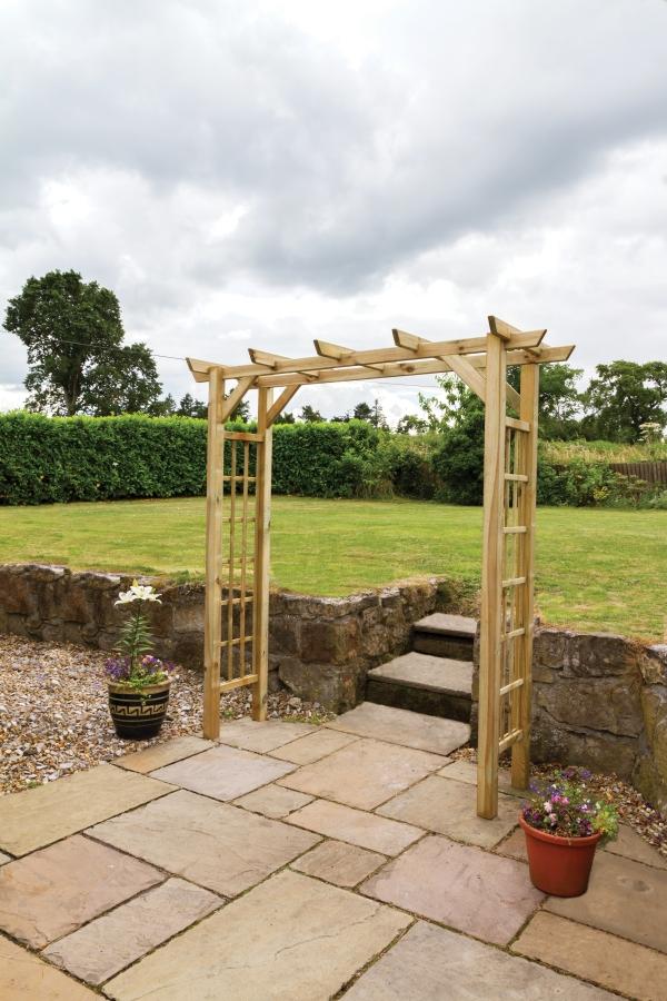 Zest 4 Leisure 2.1m (6ft 10in) Twilight Wooden Garden Arch