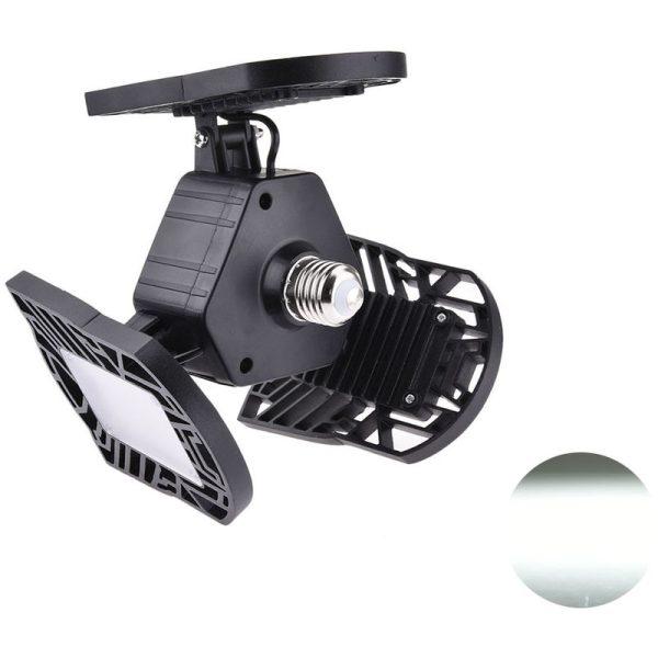 1 Piece LED Adjustable Three Light Garage Lamp High Bay Light 60W LLDDE-ZO0197402 - Hommoo