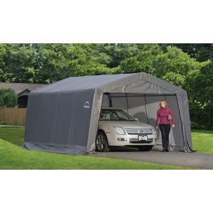 16X12 Shelterlogic Plastic Garage Grey