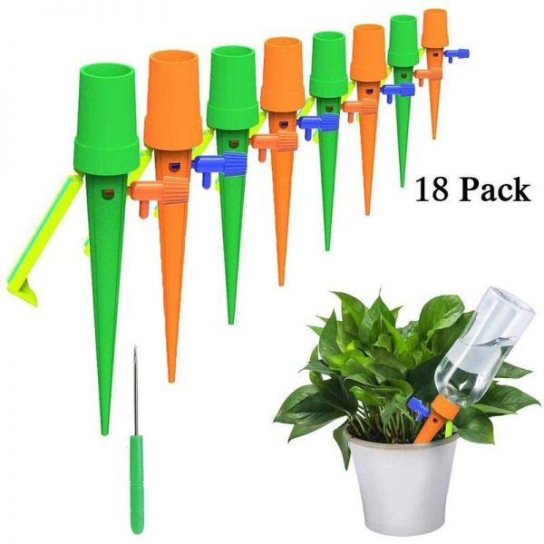 18Pcs Drip Irrigation Kit, Automatic Plant Watering System Drip Irrigation Equipment for Garden Home Indoor Outdoor / Park Flowers