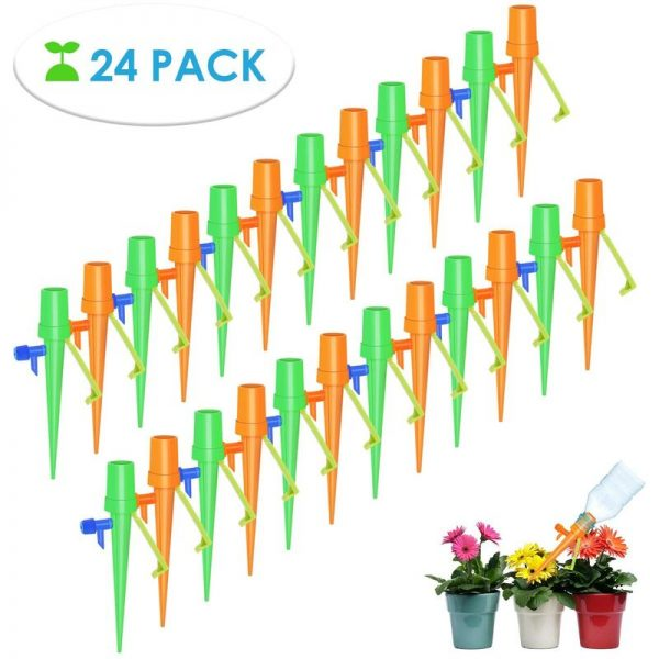 24Pcs Drip Irrigation Kit, DIY Automatic Plant Watering, Irrigation System Dispenser Watering Plants for Home Garden Indoor Outdoor