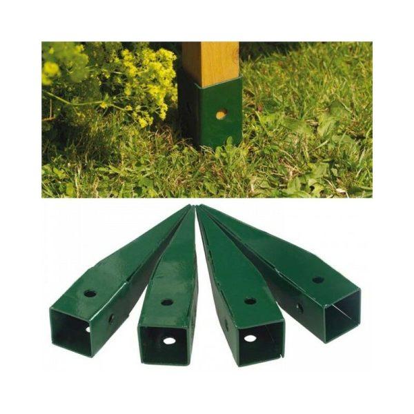 4 x Metal Ground Spikes Elegant Wooden Garden Arch 07715 07713 - Gardman
