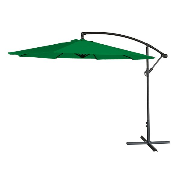 Airwave 3m Banana Hanging Parasol (base not included) - Green