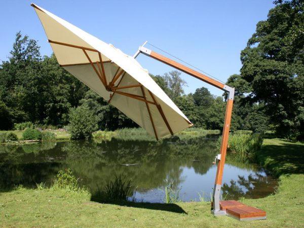 Bamboo 4m x 3m Side-Wind Cantilever Parasol