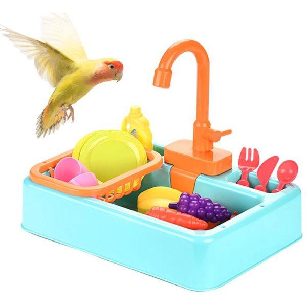 Bath Bird Bird Bird Bird Bath Porrottle Bathbox Automatic Power Supply Bird Supplies Utensils