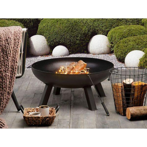 Beliani - Modern Outdoor Garden Charcoal Fire Pit Steel Bowl Round Heater Sempu