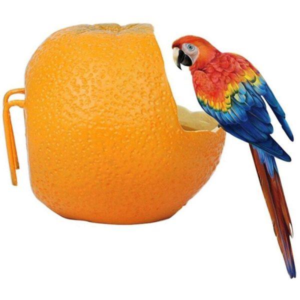 Bird Feeder, Orange Shaped Bird Feeder, Hanging Bird Cage, Parrot Feeding Bowl, Bird Feeder