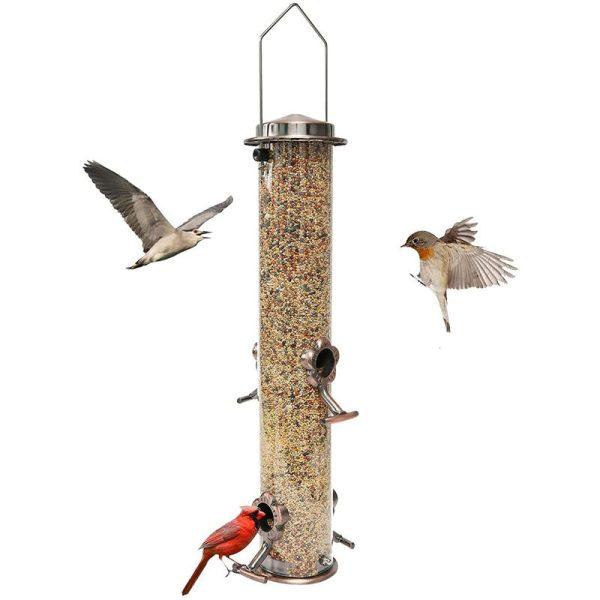 Bird Feeder, Outdoor Hanging Bird Feeder, Sky Garden Yard Bird Feeder, 4 Feeding Ports