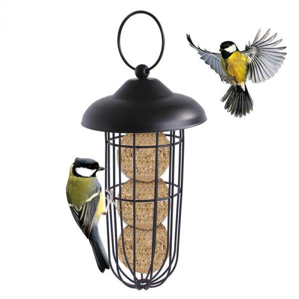 Bird feeder Food distributor for birds, bird food distributor, iron ecological cover, ecological feeder for wild birds in PVC