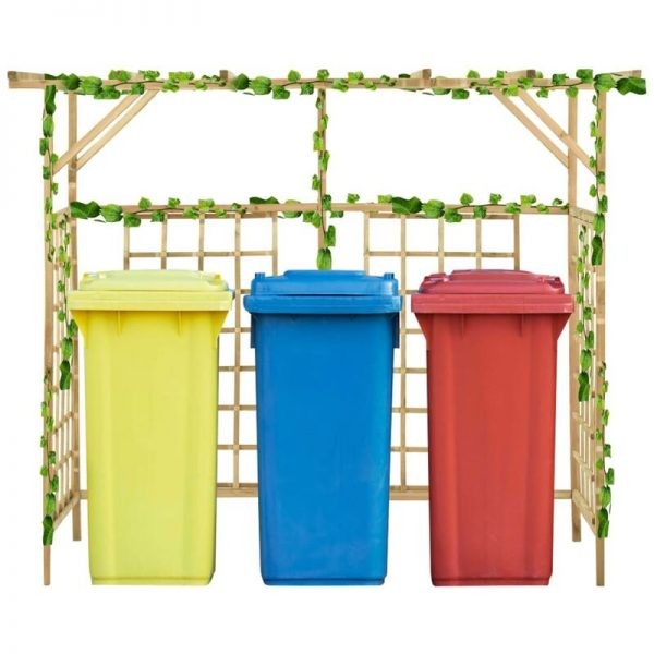 Garden Pergola for Triple Bins Impregnated Pinewood - Brown - Vidaxl