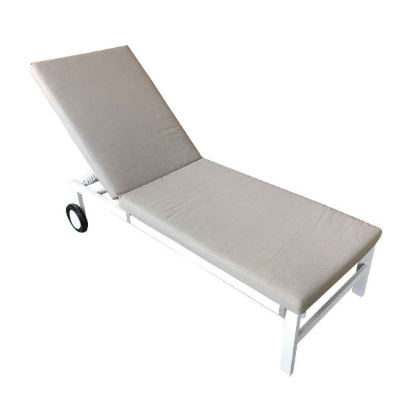 Handpicked Titchwell Sun Lounger - White