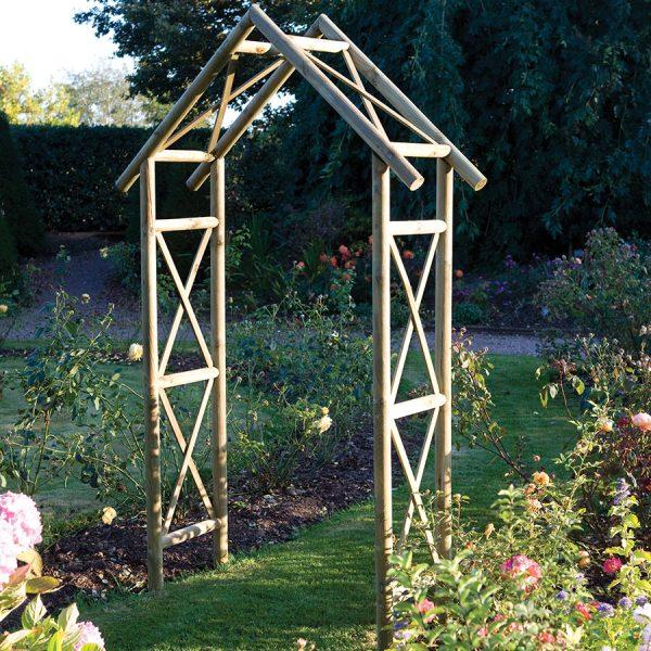 Rowlinson Rustic Garden Arch