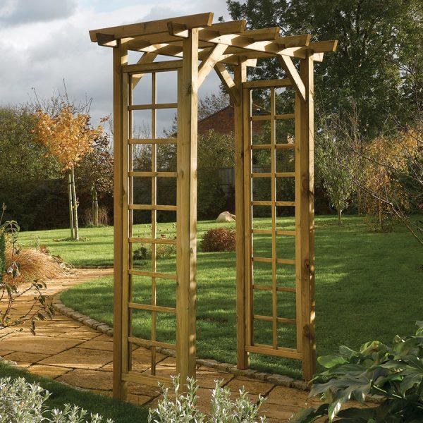 Rowlinson Square Top Wooden Garden Arch