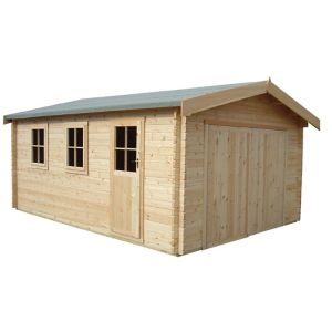 Shire 13X15 Bradenham Wooden Garage (Base Included) - Assembly Service Included