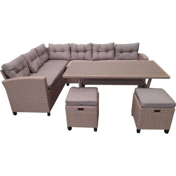 Stylish Rattan 8 Seater Corner Sofa Garden Dining Set