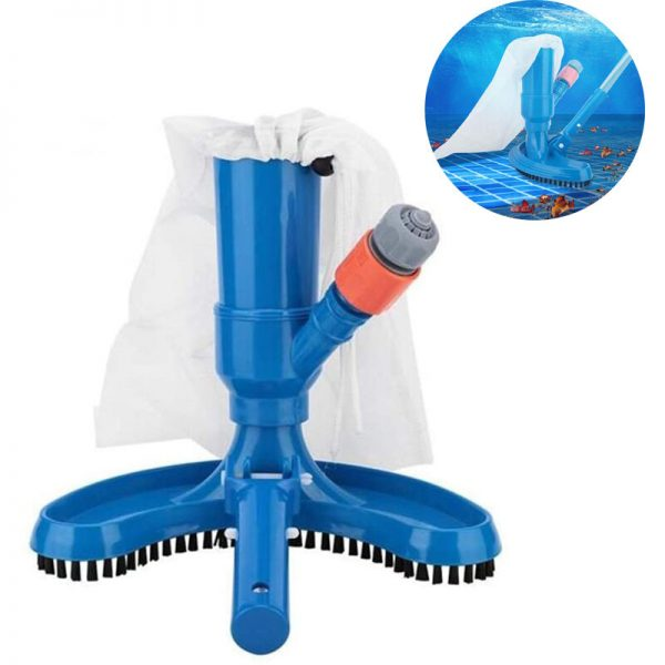 Swimming Pool Spa Brush Pool Vacuum Cleaner Pool Vacuum Cleaner Portable Suction Brush Suction Head Cleaner for Pond Fountain Whirlpool Cleaning
