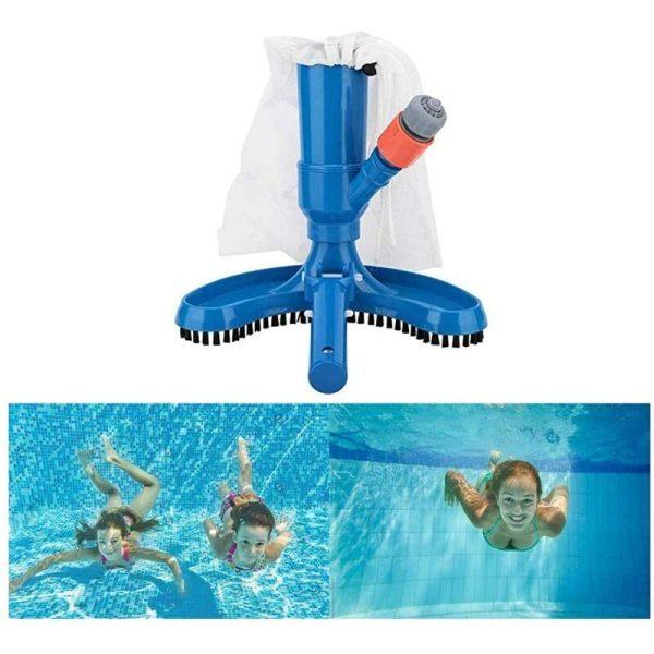 Swimming Pool Vacuum Cleaner, Swimming Pool Pond Vacuum Brush Cleaner Handheld Swimming Pool and Spa Vacuum Cleaner