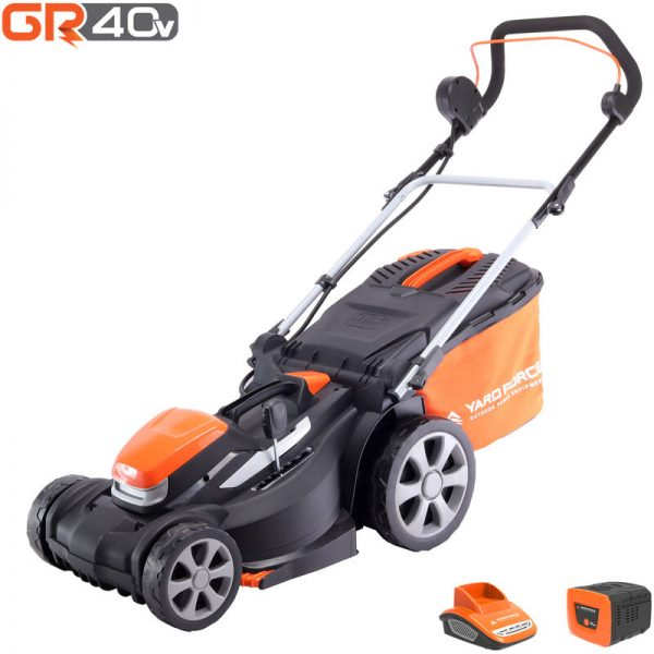 Yard Force 40V 37cm Cordless Lawnmower with 2.5Ah Lithium-ion Battery & Quick Charger LM G37A - GR 40 range