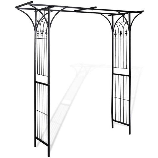 Zqyrlar - Garden Arch 200x52x204 cm - Black