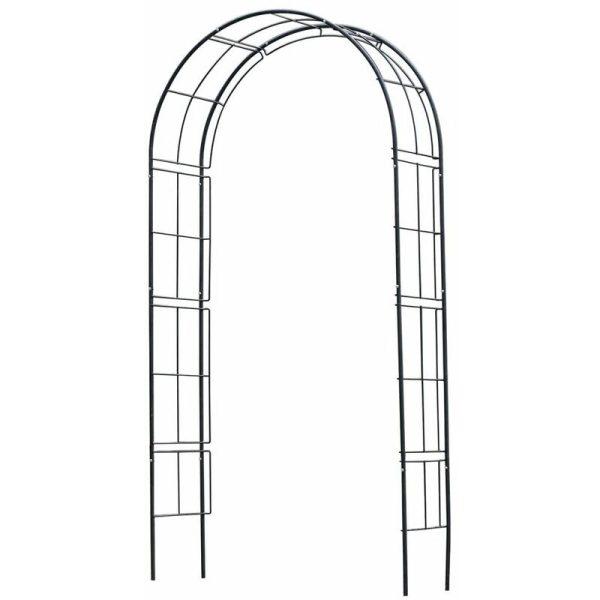 Zqyrlar - Nature Garden Arch Metal 229x38x113 cm Black - Black