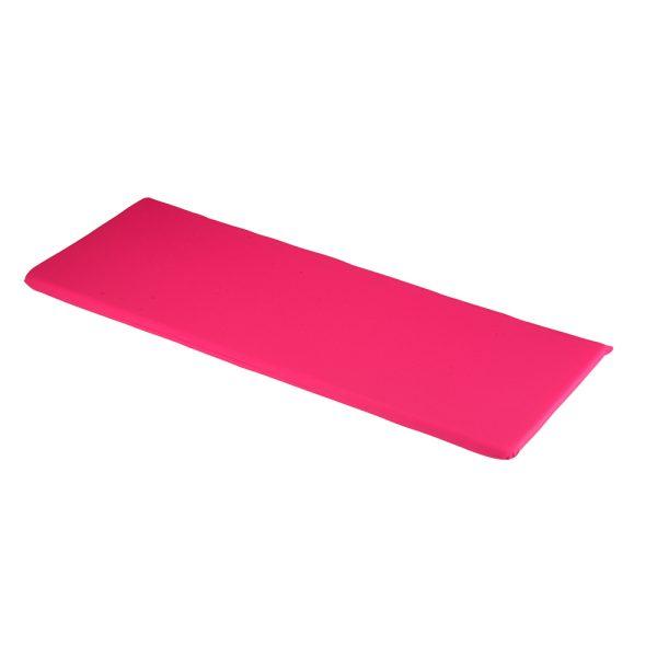1.41m 3 Seater Garden Bench Cushion in Hot Pink