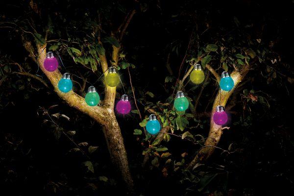 10 Solar Powered Crackle Globe String Lights by Smart Garden